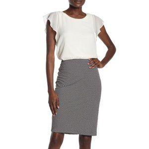 PHILOSOPHY NWT Black & White Career Skirt | Size 10